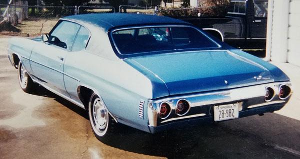 Mom's Chevelle in 1971